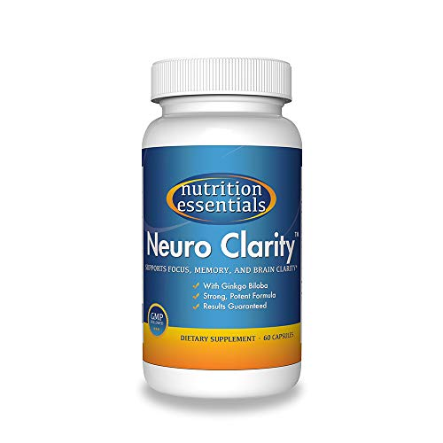 #1 Brain Function Booster Nootropic - Super Ginkgo Biloba complex with St Johns Wort & Bacopin - Supports Mental clarity, Focus, Memory & more - 100% Moneyback Guarantee (1 Mo. Supply/1 Bottle)