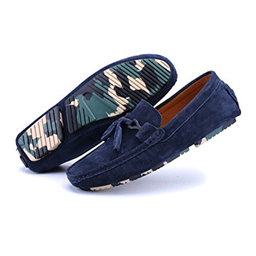 mocassini Decor Blue mocassini 6 mocassino on Penny Shufang Tassel shoes in slip UK vera nuovo ballerine da 2018 nbsp;uomo leggero 5 guida uomo pelle comfort Nero BxI4Oq