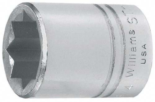 Williams ST-840 1//2 Drive Shallow Socket 1-1//4-Inch JH Williams Tool Group Point 8