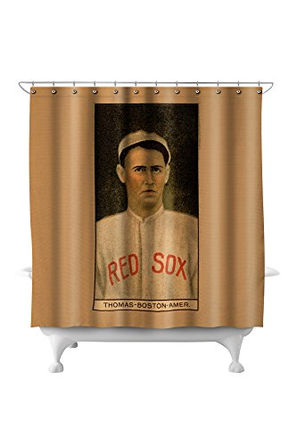 Boston Red Sox - C. D. Thomas - Baseball Card (71x74 Polyester Shower ()