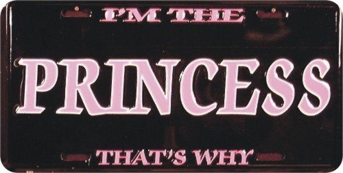 I/'m The Princess That/'s Why 6 x 12 metal license plate