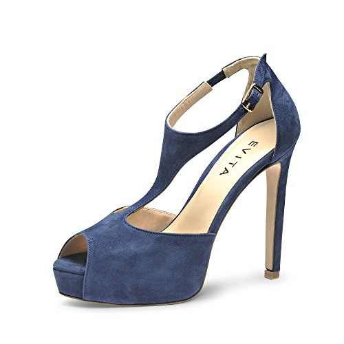 Femme Shoes Bleu Sandales 38 BEPPINA Evita Daim wBq4nT4p