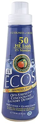 Earth Friendly Ecos 4X Concentrated Magnolia and Lily Laundry Detergent Liquid, 25 Fluid Ounce -- 6 per case. by Earth Friendly Products