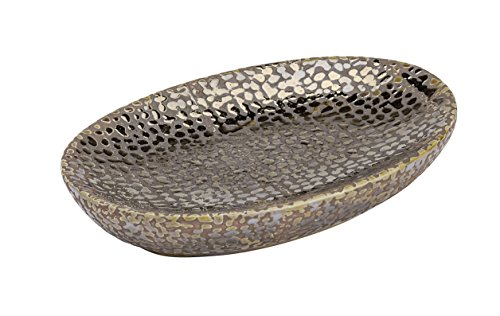 WENKO 21641100 Seifenablage Marrakesh - Seifenschale, Keramik, 13.6 x 2 x 9.9 cm, Braun