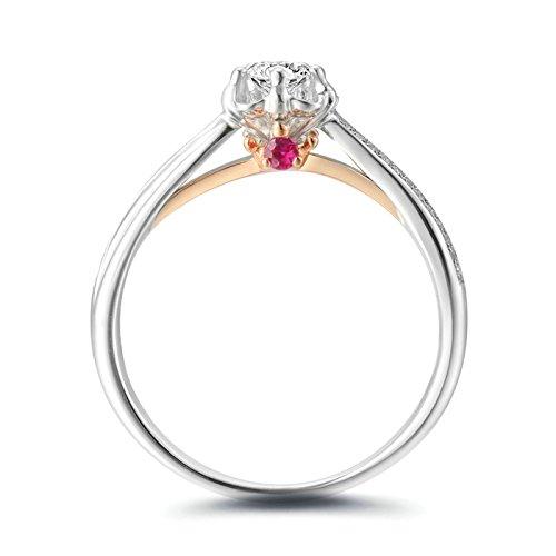 ANAZOZ 18K White Gold(Au750) 0.18CT Diamond(SI, I-J) Diamond Engagement Ring for - 0.18 Diamond Si Ct