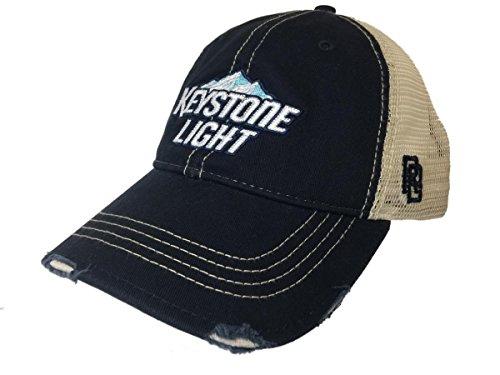 Original Retro Brand Keystone Light Brewing Company Retro Brand Vintage Mesh Adjustable Beer Hat Cap