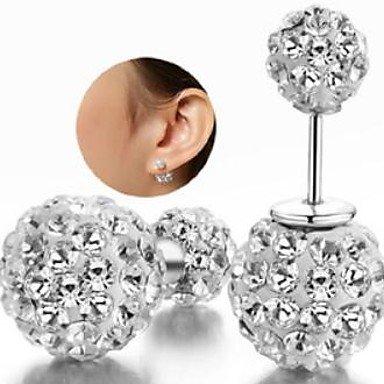 amazon molto carino diversificato nella confezione strass orecchini di Shambhala doppia sfera: Amazon.it: Gioielli