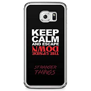 Loud Universe Keep Calm Upside Down Samsung S6 Edge Case Stranger Things Netflix Samsung S6 Edge Cover with Transparent Edges