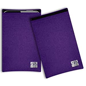 SIMON PIKE Cáscara Funda de móvil Boston 1 morado LG L70 Tri Fieltro de lana