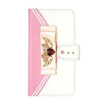 fe911eb22c 手帳型ケース セーラーウィング (ピンクトパーズ) おしゃれ かわいい カードポケット 携帯カバー スタンド