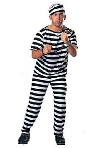 Set of prison uniform prisoner costume for men hat / clothes / pants (japan import) (Prisoner Costume Target)