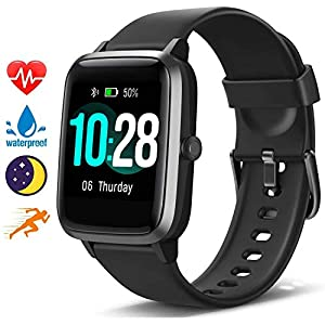 Blackview Smart Watch for Android Phones and iOS Phones, All-Day Activity Tracker with Heart Rate Sleep Monitor, 1.3″ Full Touch Screen, 5ATM Waterproof Pedometer, Smartwatch for Men Women