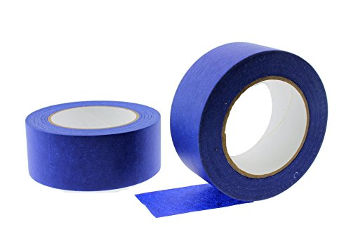 Painters Tape PROFESSIONAL Grade Masking Edge Trim Easy Removal (48MM 1.88 in) ()