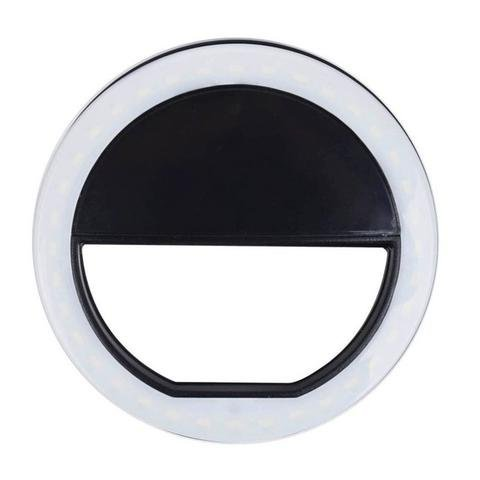 Selfie Ring Light, 3-Level Brightness 36 LED for iPhone, Samsung Galaxy, Sony, Motorola and Other Smart Phones; Clips on Night Ring Fill Light (White) Great for dark places and applying - Lens Paparazzi