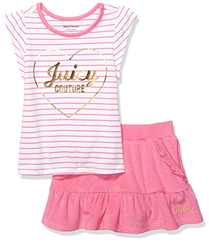 Ideas To Dress Up As (Juicy Couture Girls' Big 2 Pieces Scooter Set, Pink Stripes,)