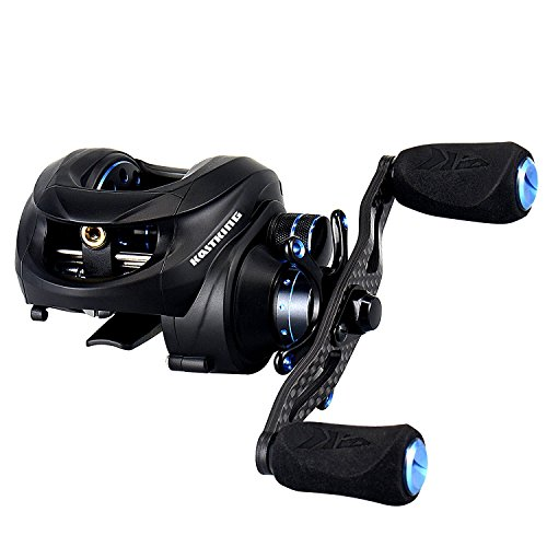 NEW KastKing Assassin Carbon Baitcasting Reel, Only 5.7 OZ, 16.5 LB Carbon Fiber Drag, 11+1 BB, Dual Brakes, Our Lightest Baitcaster Fishing Reel, Affordable! (left Handed) - Left Handed Fishing Reels