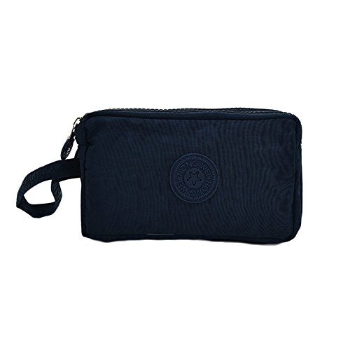 Nylon Handbag Waterproof Womens Clutch Dark Canvas Multi Cysincos Blue Wristlet bag Casual Zipper purpose Purse YqvTX