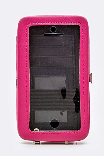 Trendy Fashion Jewelry Studded Mul Function Iphone Card Case By Fashion Destination | (Fuchsia)