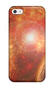 Flexible Tpu Back Case Cover For Iphone 5/5s - Sci Fi Planets People Sci Fi