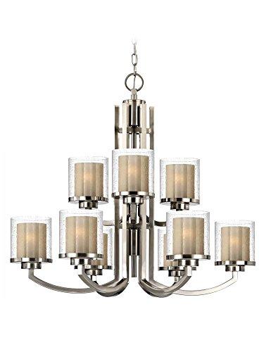 Dolan Designs 2952-09 Horizon 9 Light 2 Tier Chandelier, Satin Nickel (2 Tier Lamp)