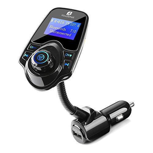 1. Houzetek Bluetooth FM Transmitter for Car