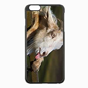 iPhone 6 Plus Black Hardshell Case 5.5inch - goat tongue horn Desin Images Protector Back Cover