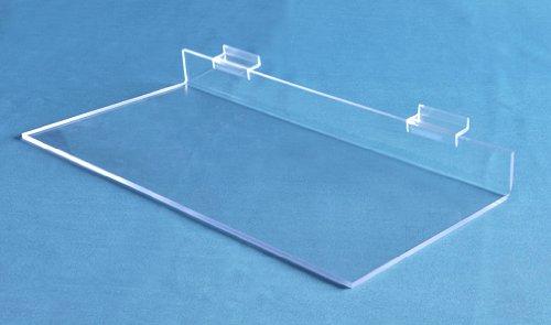 Choice Acrylic Displays Straight Slatwall Shelves - Qty of 4 (Z128N - 1-1/2''H x 12'' W x 8'' D)