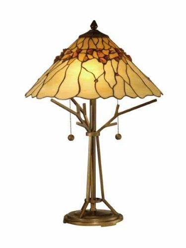 Dale Tiffany TT10598 Branch Base Tiffany Table Lamp, Antique 16