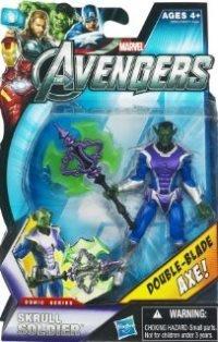 Hasbro Marvel Avengers Comic 4 Inch Action Figure Skrull Soldier Double Blade Axe!