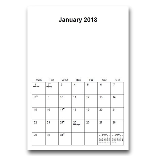 2017 insert create print your own photos a4 spiral bound wall a4 wire bound 2018 blank calendar planner solutioingenieria Images
