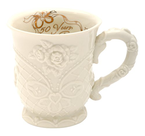 "Cosmos 20915 4"" High 50th Anniversary Ceramic Mug, Multicolor"