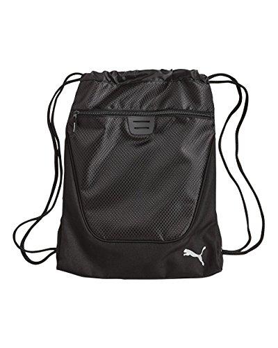 Carry Sack Gym Bag Draw String Bag Cinch Sack Carry On (Black/Black)