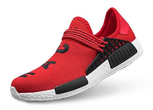 (TooBY Men's Running Shoes Women's Free Transform Flyknit Fashion Sneakers,Red,42 EU=8.5US-Men/10US-Women)