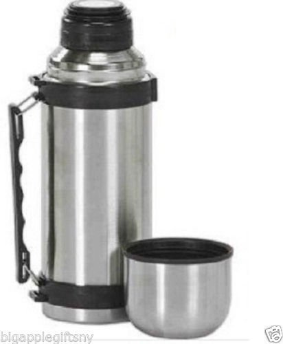 Vacuum Stainless Steel Insulated Coffee Soup Bottle thermos w. Handles1 Liter by uniwaer from uniwaer