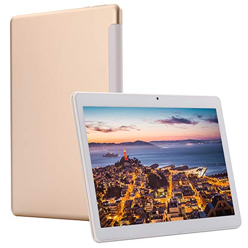 4G LTE Phablet 10 Inch Tablet Android 9.0 Deca-Core Processor 2.8GHZ 6GB+64GB 1920x1200 IPS HD Dual Camera Unlocked Dual SIM WiFi GPS Google Play (Gold)