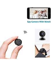 Mini Espion Caméra AOBO Full HD 1080P IP WiFi Cachée Cam HD1080P Vision Nocturne Détection de Mouvement Caméra de Surveillance de Sécurité pour iPhone/ Android/ Support Maximum Carte …