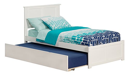 Flat Panel Footboard (Madison Bed with Flat Panel Footboard and Urban Trundle, Twin, White)