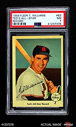 Amazoncom 1959 Fleer 63 All Star Record Ted Williams