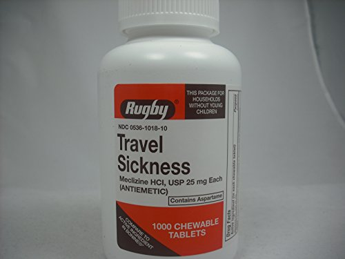 Travel Sickness 25mg 1000 Chewable Tablets