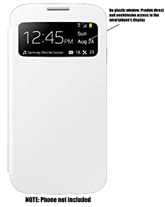 Galaxy S4 S-View Style Flip Cover Folio Case: White (Non-Samsung Brand)