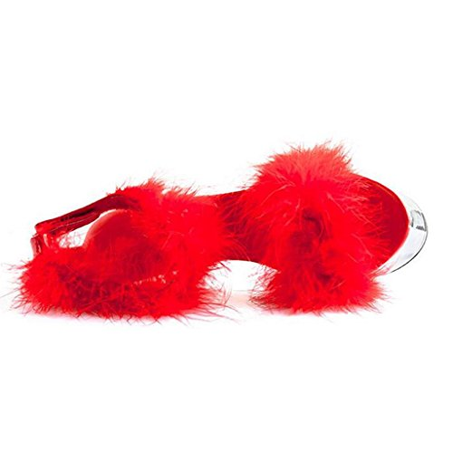 15cm Fondo Mujer Pies Impermeable Heels Sandalias con Juego Grueso De Super Plataforma Modelo Alto Tacón Para Alto Zapatos Red High 5FqnwcWqTX