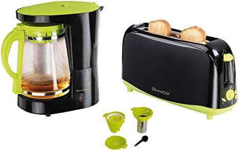 Cafetera/tetera 2 en 1 + Tostadora DomoClip: Amazon.es: Hogar