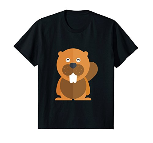 Kids Cute Baby Brown Beaver T-Shirt 8 Black (Beaver Brown Mens)
