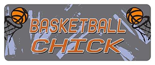 Makoroni - BASKETBALL CHICK Basketball Car Laptop Wall Sticker