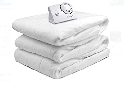 Biddeford Automatic Electric Heated Mattress Fitted Pad, White (Full)
