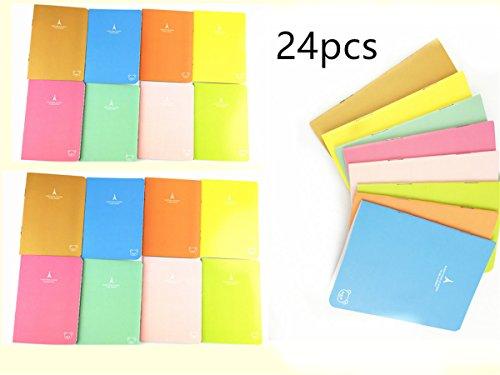 Yansanido Pack of 24 Pocket Pal Super Mini Journals Portable Steno Note Books Mini NoteBooks (24pcs Random delivery)