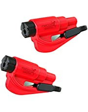 RESQME 04.100.07 The Original Keychain Car Escape Tool, Made in USA, Red, Pack of 2