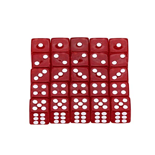 OrchidAmor 25Pcs Party For Game Dungeons & Dragons Polyhedral D6 Multi Sided Acrylic Dice 2019 New Fashion