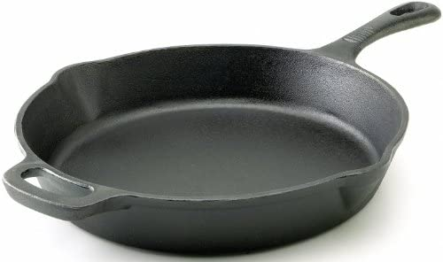 T-fal E83407 Pre-Seasoned Nonstick Durable Cast Iron Skillet Fry pan Cookware, 12-Inch, Black – 2100082838