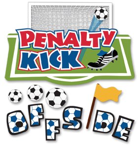 - Jolee's Boutique Dimensional Stickers Offside, Penalty Kick, Soccer Theme